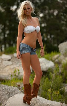 Country girls daisy dukes bikini agree, this